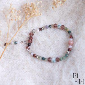 2/50$ bracelet with natural agate gemstones